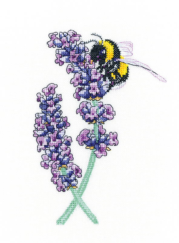 Lavender Bee - Peter Underhill Cross Stitch