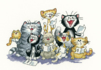 The Choir - Peter Underhill Cat Cross Stitch