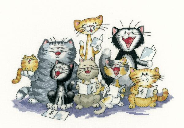 The Choir - Peter Underhill Cat Cross Stitch