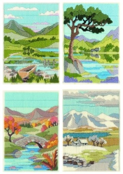 Mountain Seasons - Wool Long Stitch Set of 4