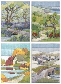 Walk Seasons - Wool Long Stitch Set of 4