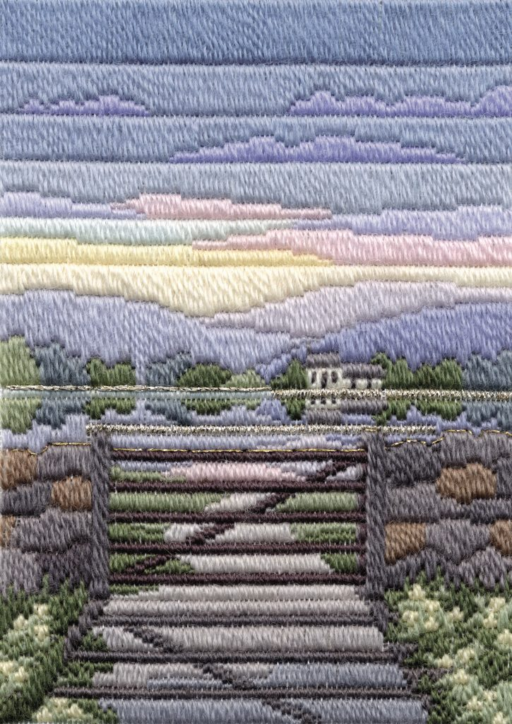 Spring Evening - Wool Long Stitch