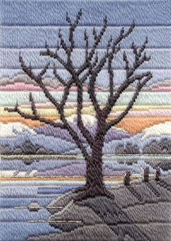 Winter Evening - Wool Long Stitch
