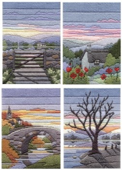 Evening Seasons - Wool Long Stitch Set of Four