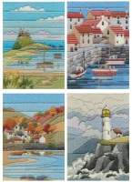 Coastal Seasons - Wool Long Stitch Set of Four