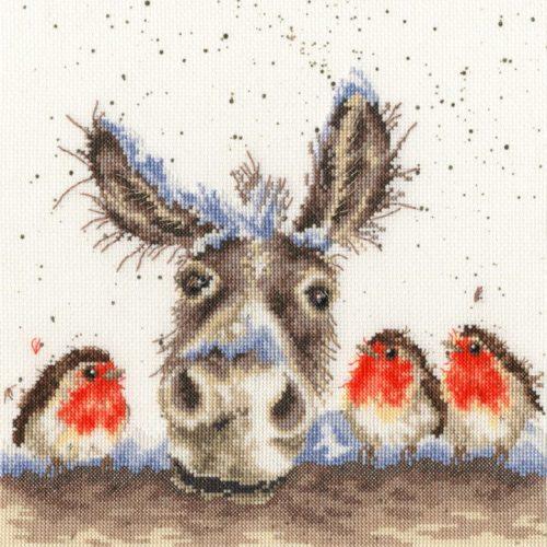 Christmas Donkey - Hannah Dale Cross Stitch Kit (Bothy Threads)
