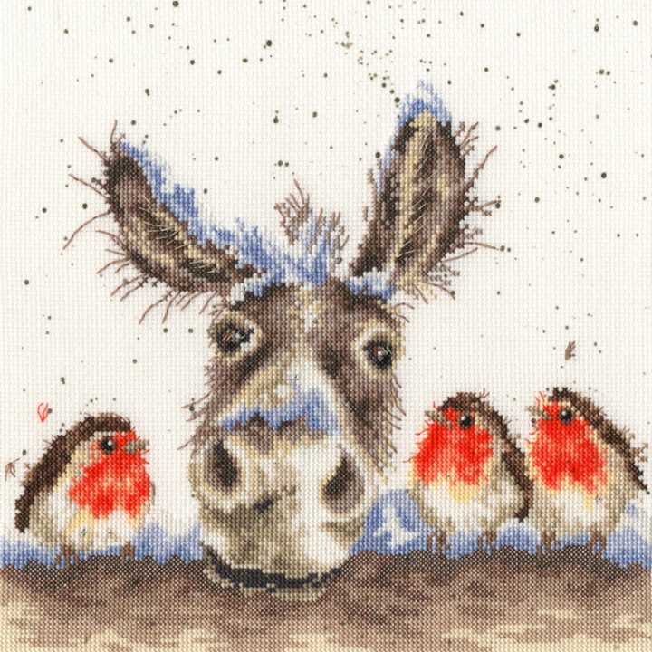 Christmas Donkey - Hannah Dale Cross Stitch Kit (Bothy Threads)