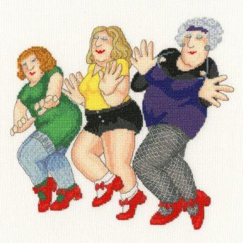 Dancing Class - Beryl Cook Cross Stitch