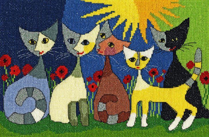 Five Cats - Rosina Wachtmeister Cross Stitch