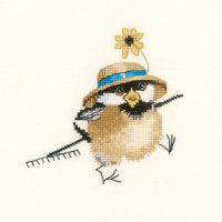 Gardener Chick - Valerie Pfeiffer Cross Stitch