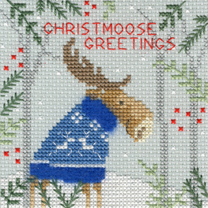 Christmas Moose Christmas Card
