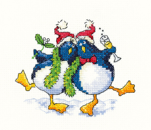 Cool Yule Penguins - Simply Heritage Cross Stitch