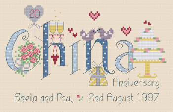 China Anniversary 20 Years - Nia Cross Stitch