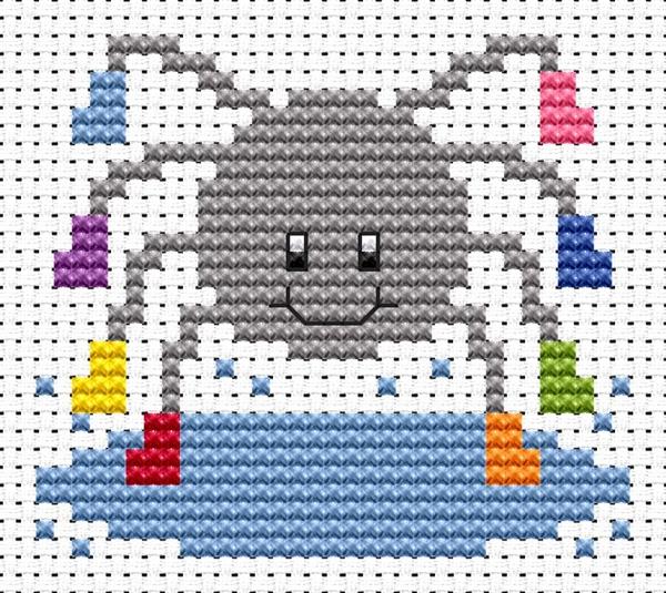 Spider Cross Stitch - Sew Simple