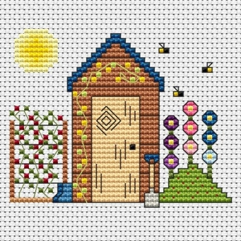 Garden Shed Cross Stitch Card