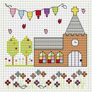 Church Celebration Cross Stitch Card