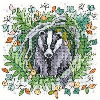 Badger Cross Stitch - Heritage Crafts
