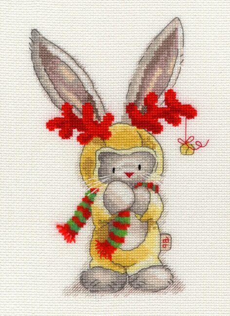 Rudolph - Bebunni Collection Cross Stitch