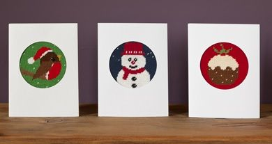 Set of 3 Christmas Tapestry Card Kits