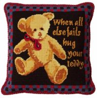Tartan Teddy Tapestry Kit (Plain Canvas)