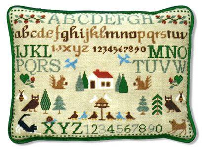 Squirrel Sampler Tapestry (Plain Canvas)