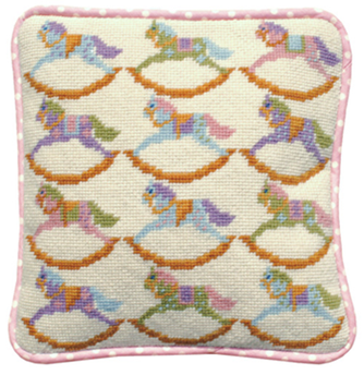 Rocking Horses Tapestry Kit (Plain Canvas)