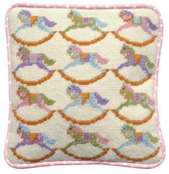 Rocking Horses Tapestry Kit (Plain Canvas)