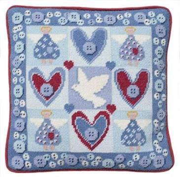 Angels Tapestry Kit (Plain Canvas)