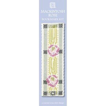 Mackintosh Rose Cross Stitch Bookmark