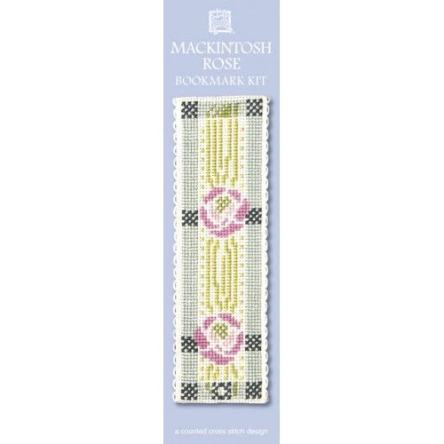 Mackintosh Rose Cross Stitch Bookmark