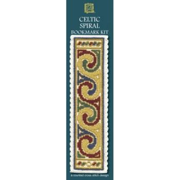 Celtic Spiral Cream Cross Stitch Bookmark