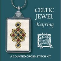 Celtic Jewel Cross Stitch Keyring