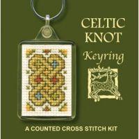 Celtic Knot Cross Stitch Keyring