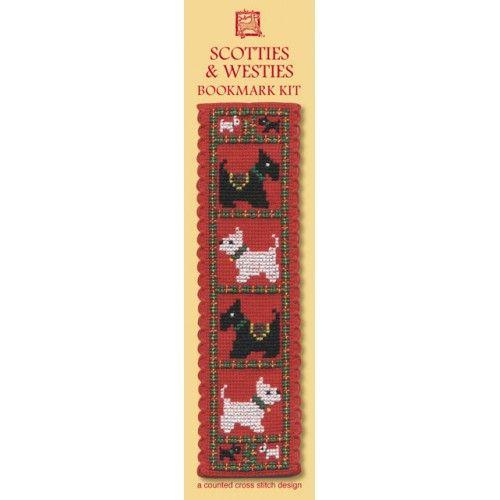 Scotties and Westies Cross Stitch Bookmark