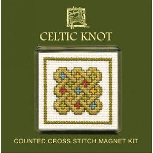 Celtic Knot Cross Stitch Magnet