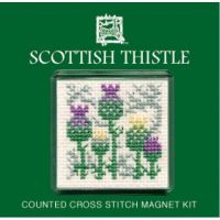 Scottish Thistle Cross Stitch Magnet