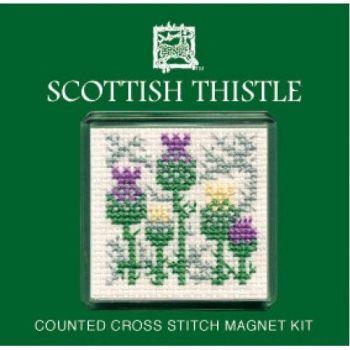 Scottish Thistle Cross Stitch Magnet