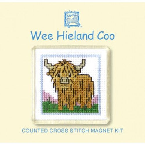 Highland Cow Cross Stitch Magnet