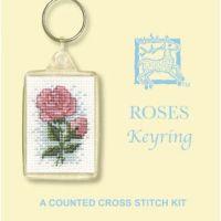 Roses Cross Stitch Keyring