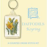 Daffodils Cross Stitch Keyring