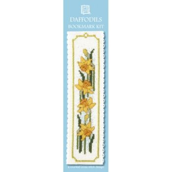Daffodils Cross Stitch Bookmark