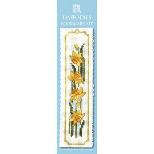 Daffodils Cross Stitch Bookmark