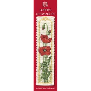 Poppies Cross Stitch Bookmark