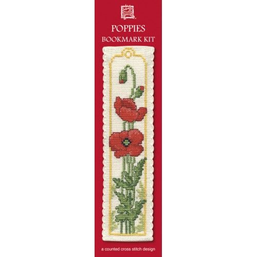 Poppies Cross Stitch Bookmark