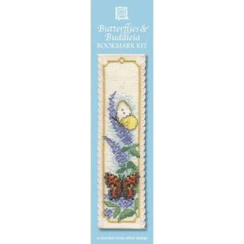 Butterlies & Buddleia Cross Stitch Bookmark