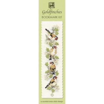 Goldfinches Cross Stitch Bookmark