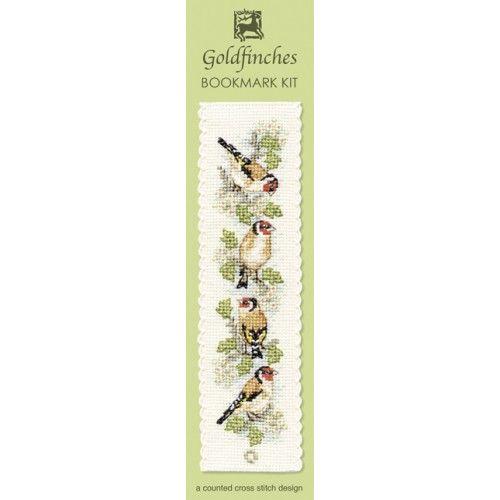 Goldfinches Cross Stitch Bookmark