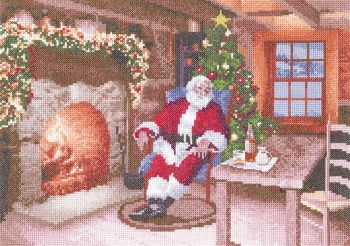 Santa's Job Done - John Clayton Cross Stitch