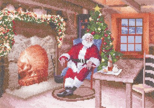 Santa's Job Done - John Clayton Cross Stitch