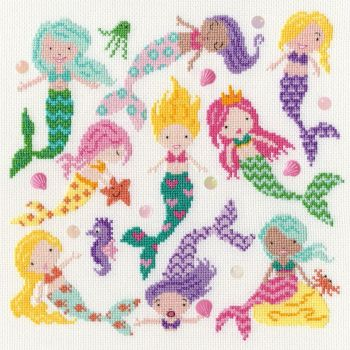 Sightly Dotty Mermaids - Bothy Threads